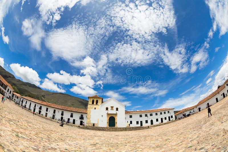 Fisheye villa de Leyva stock images