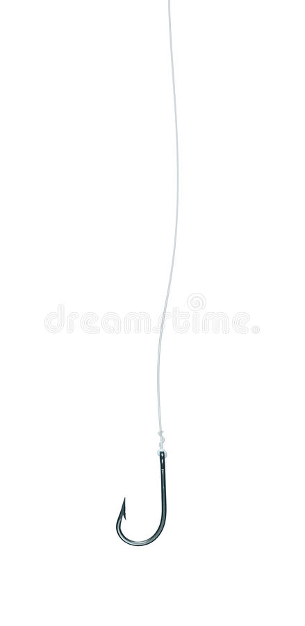 Fishhook Fish Hook Fishing Line Isolated stock photos