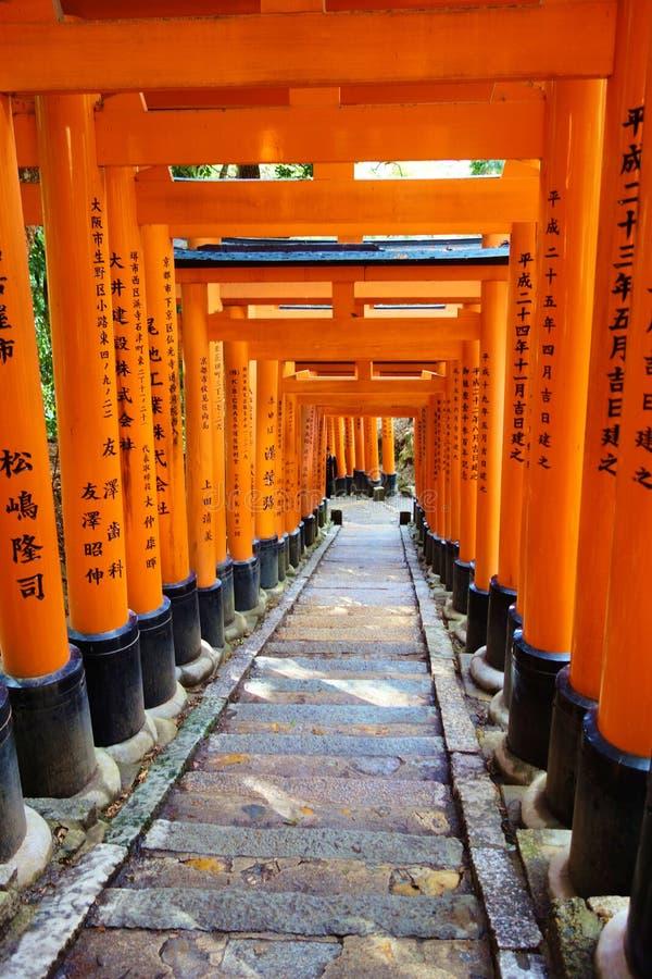 Fishimi Inari Taisha, Kyoto, Japan stock foto's