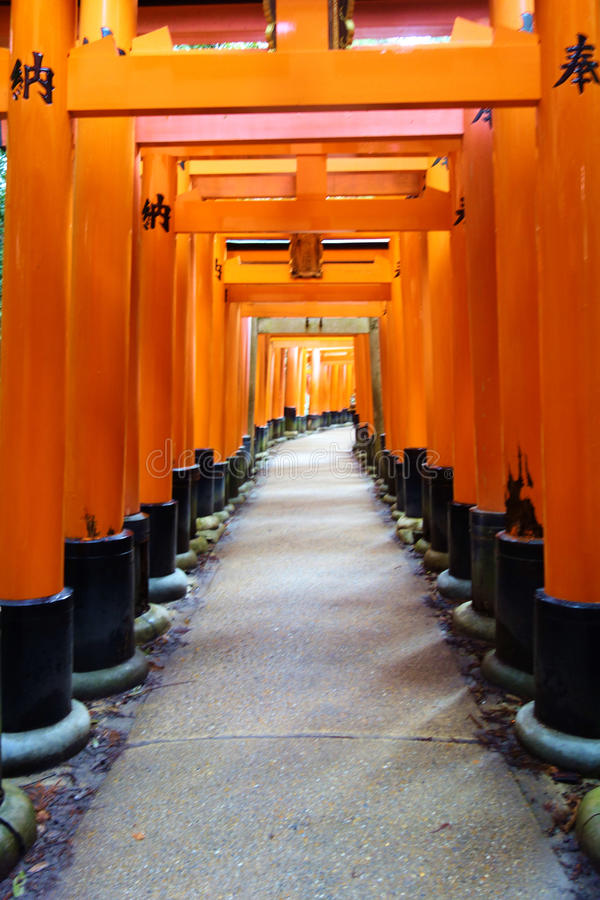 Fishimi Inari Taisha, Kyoto, Japon images stock