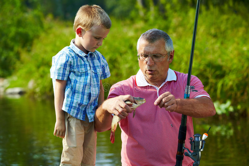 During fishing royalty free stock photos