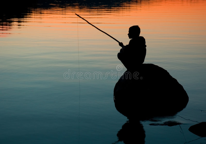 Fishing royalty free stock photography
