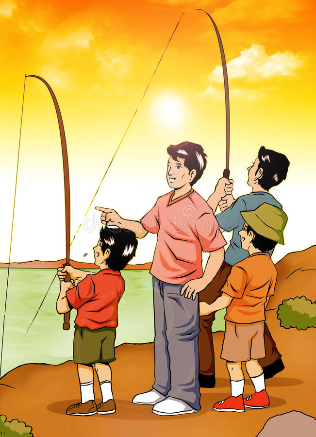 Download Fishing stock illustration. Illustration of angling, adult - 22250044