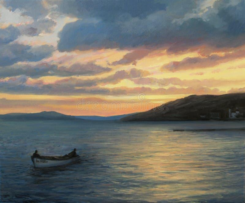 Download After Fishing stock illustration. Illustration of evening - 26644595