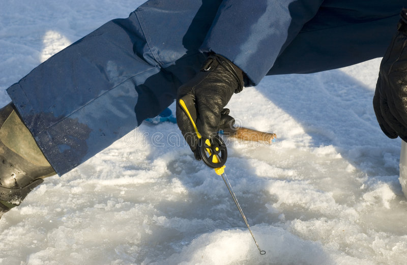 Download Fishing stock photo. Image of winter, tool, snow, hand - 464530
