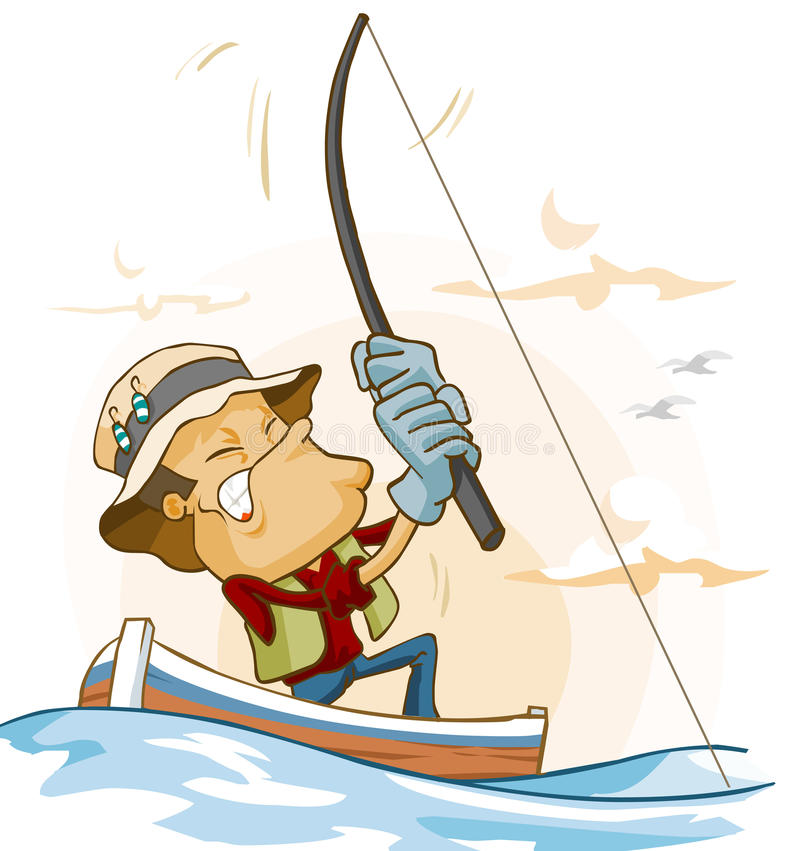 Download Fishing activity stock illustration. Image of fisherman - 13296133