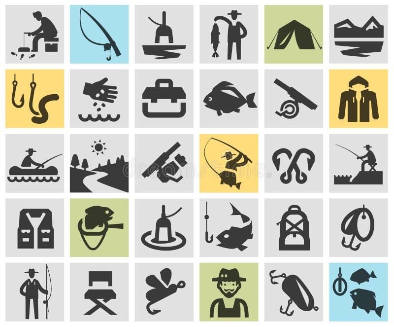 Fishing, angling vector logo design template vector illustration