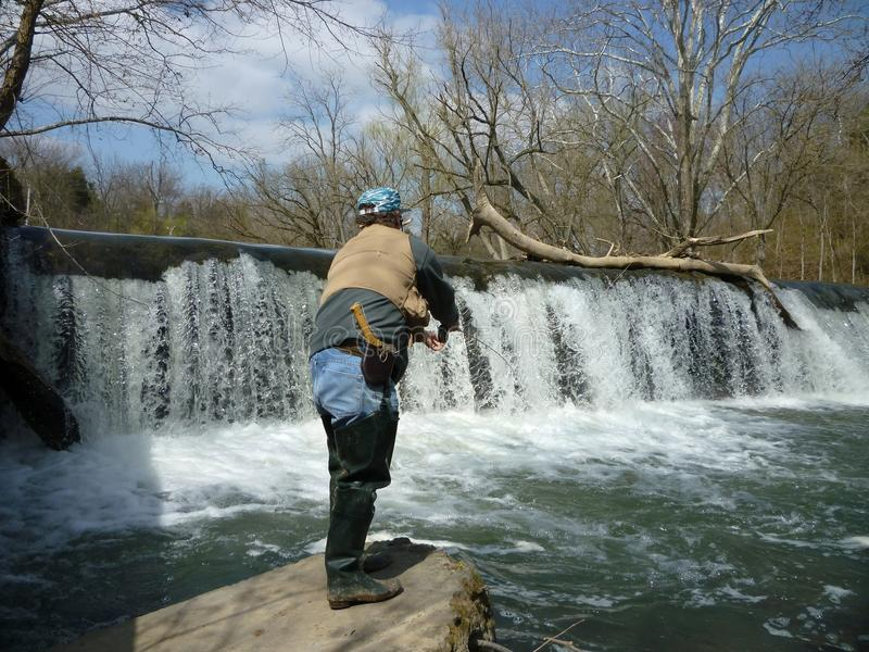 Fishing Antietam Creek royalty free stock photography