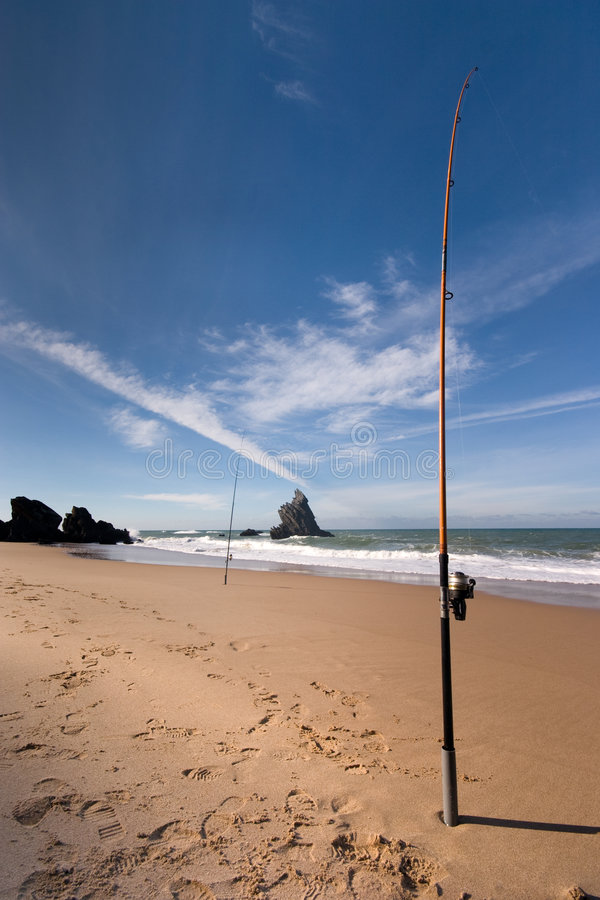 Free Fishing At The Beach Stock Image - 6381741