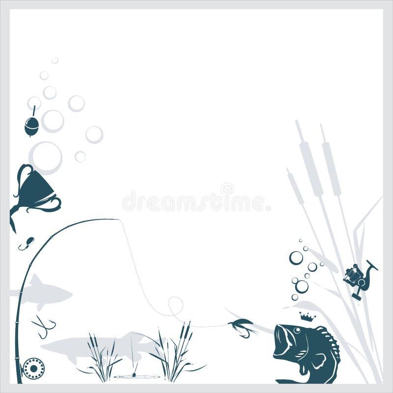 Fishing background vector illustration