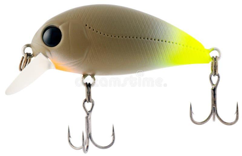 Fishing bait on white royalty free stock photo