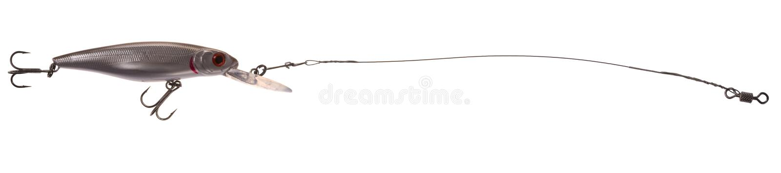 Fishing bait wobbler. Isolated on white background royalty free stock photography