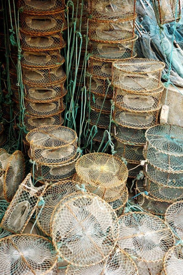 Fishing basket royalty free stock photo