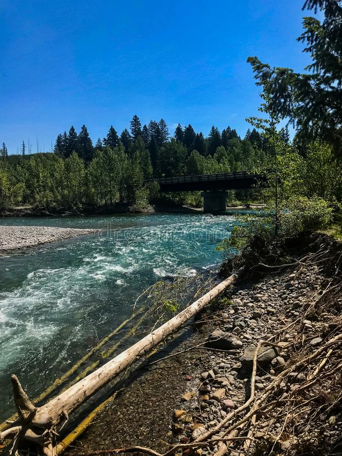 North Fork of the Flathead River Montana stock photos