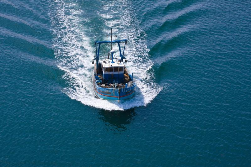 Download Fishing boat stock photo. Image of sail, blue, france - 11942590