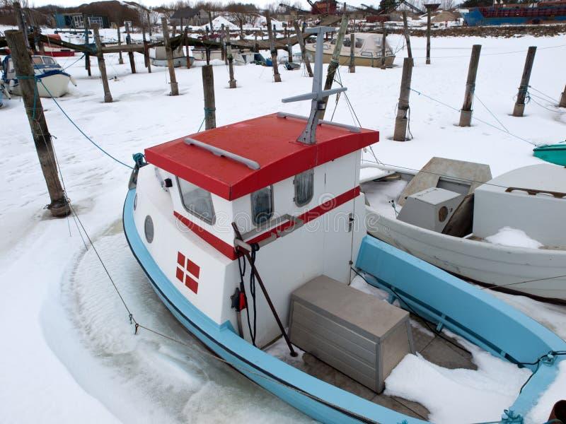 Download Fishing Boat stock photo. Image of coast, denmark, frozen - 13321762