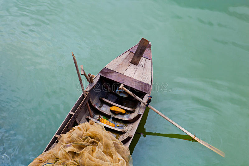 Download Fishing boat stock image. Image of paddle, color, yellow - 28802393
