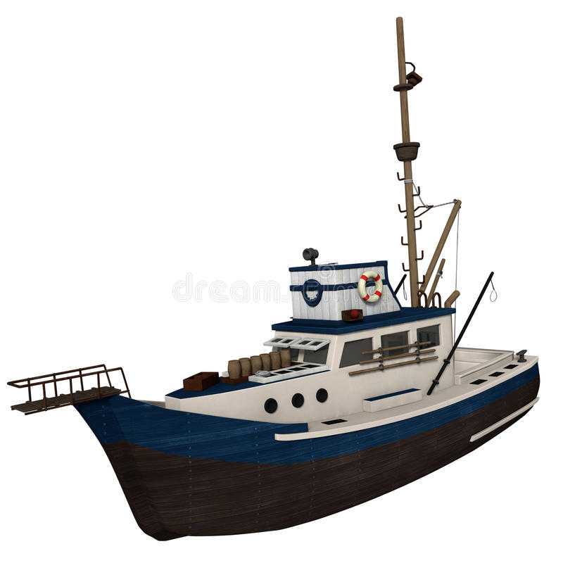 Download Fishing Boat stock illustration. Image of fishing, white - 29248630