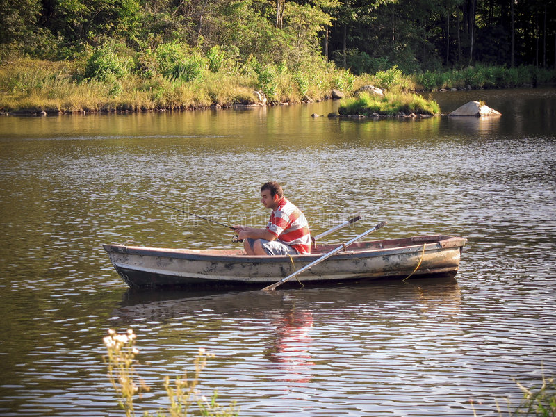 Download Fishing boat stock image. Image of activity, fresh, casting - 5041447