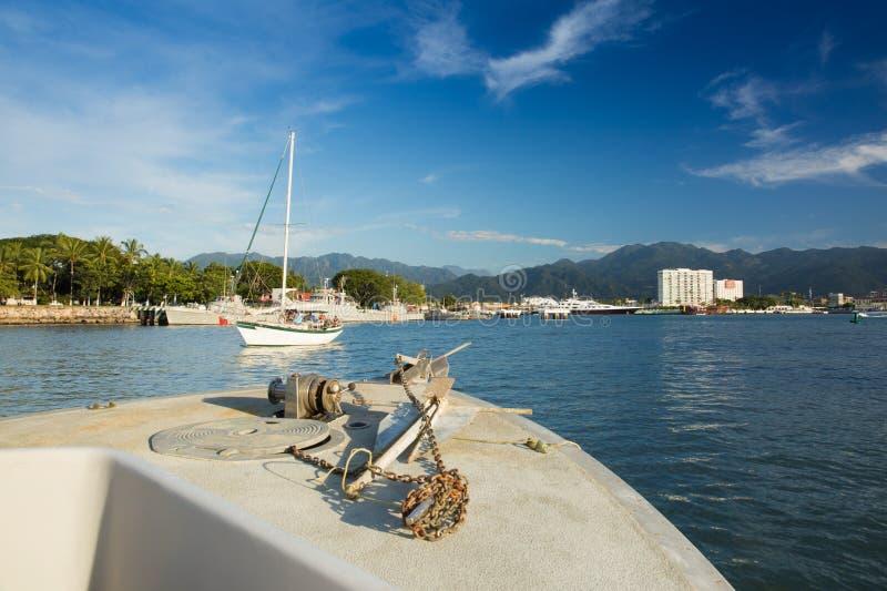 Fishing boat on Banderas Bay royalty free stock photography