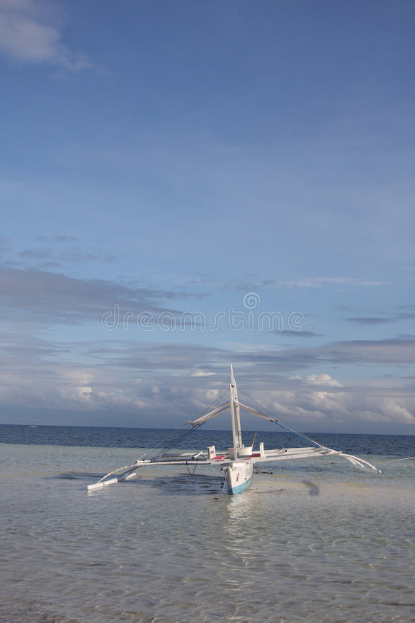 Fishing boat on Bohol Island royalty free stock image
