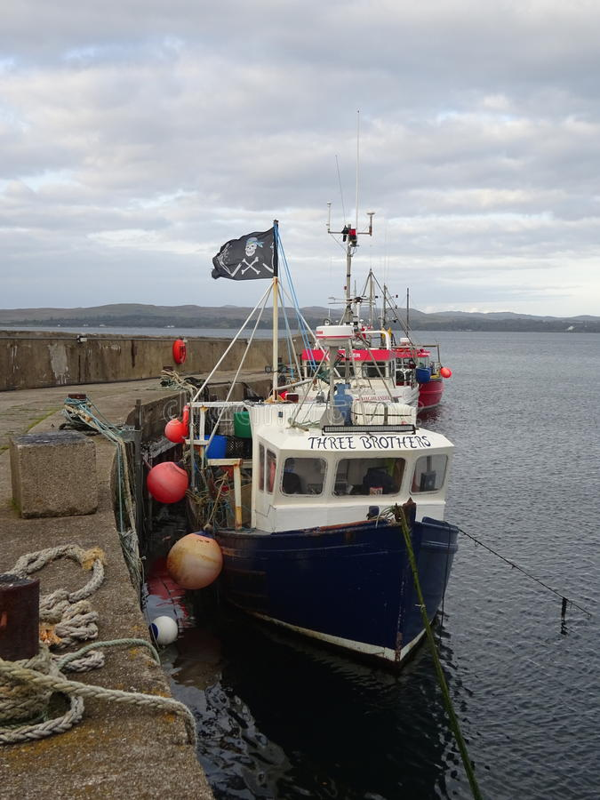 Fishing Boat at Bowmore Harbour, Isle of Islay, Scotland royalty free stock photography
