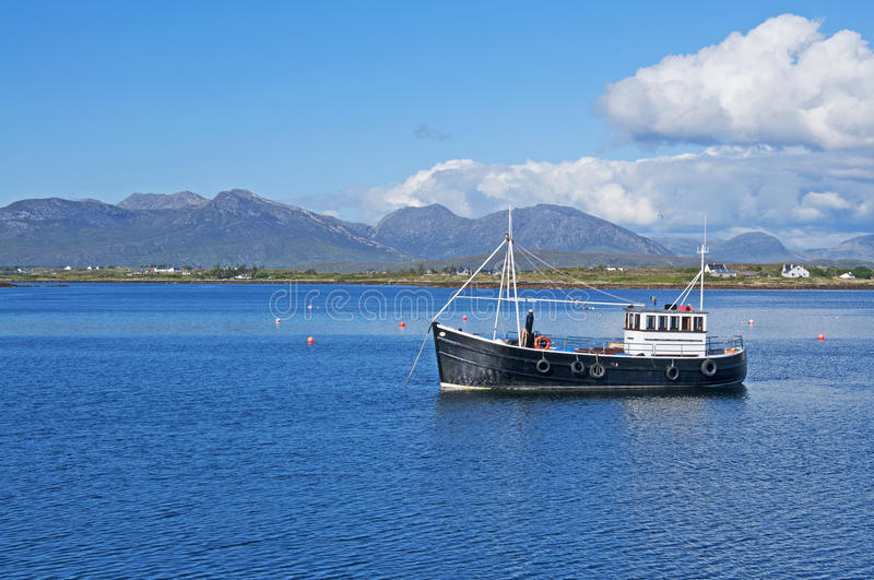 Download Fishing Boat in Connemara stock photo. Image of explore - 20830038