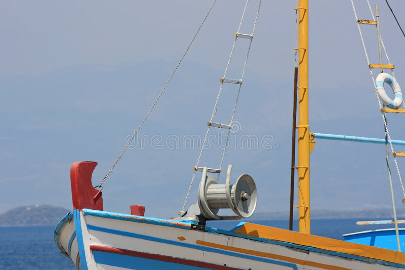 Download Fishing Boat Detail stock photo. Image of greece, mast - 5987516