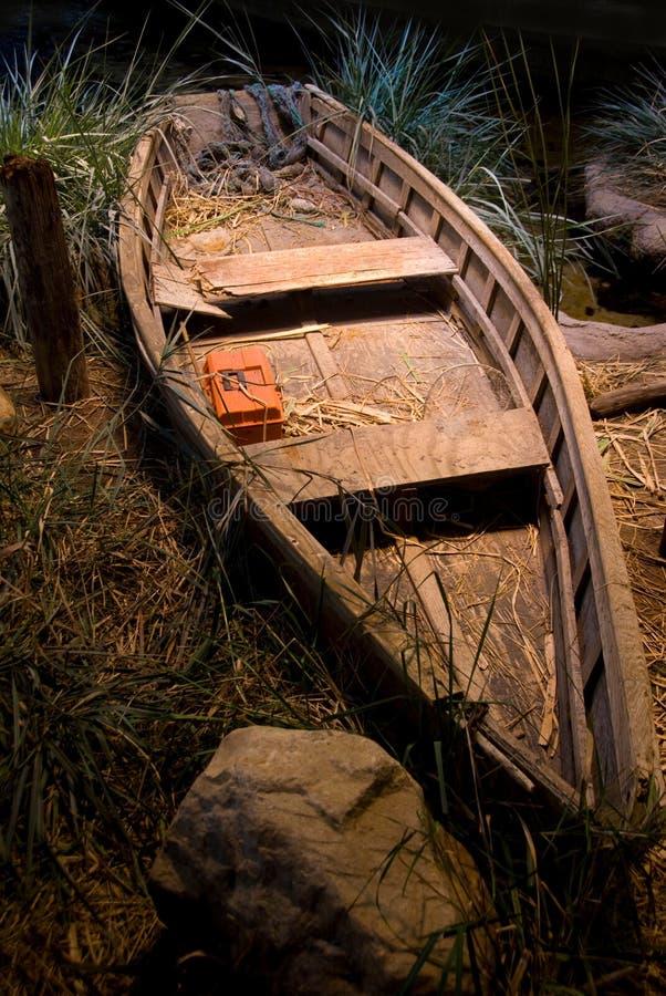 Free Fishing Boat Docked At Night Stock Photos - 13181433
