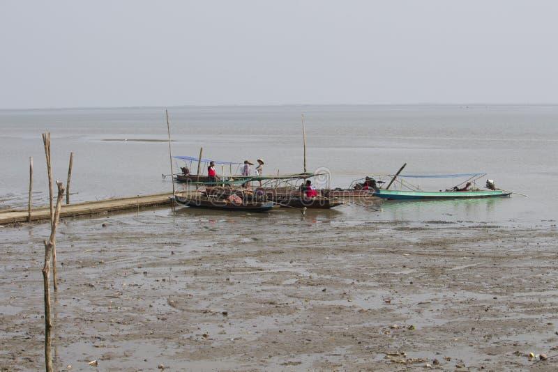 Fishing boat at Don Hoi Lam, Thailand stock images