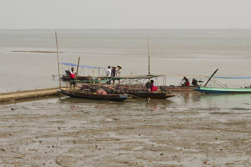 Fishing boat at Don Hoi Lam, Thailand stock photography