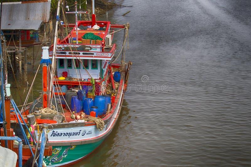 Fishing boat at Don Hoi Lam, Thailand royalty free stock images