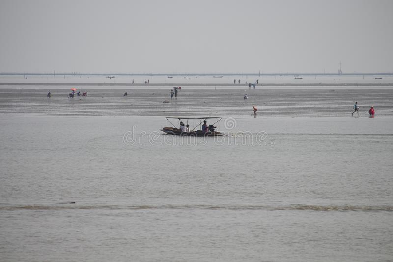 Fishing boat at Don Hoi Lam, Thailand stock photo