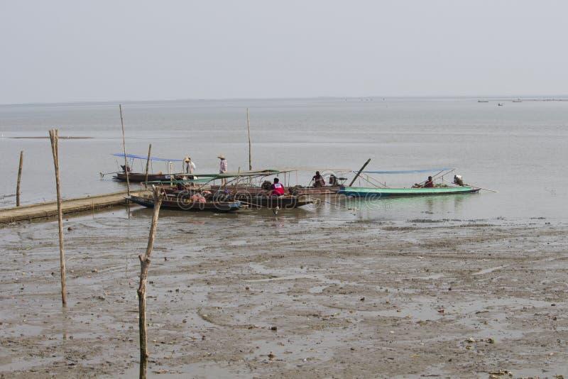 Fishing boat at Don Hoi Lam, Thailand royalty free stock photo