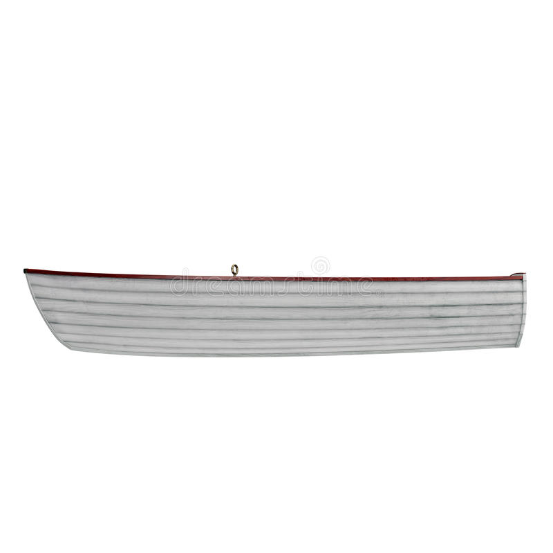 Fishing boat Isolated on white. Side view. 3D illustration stock images