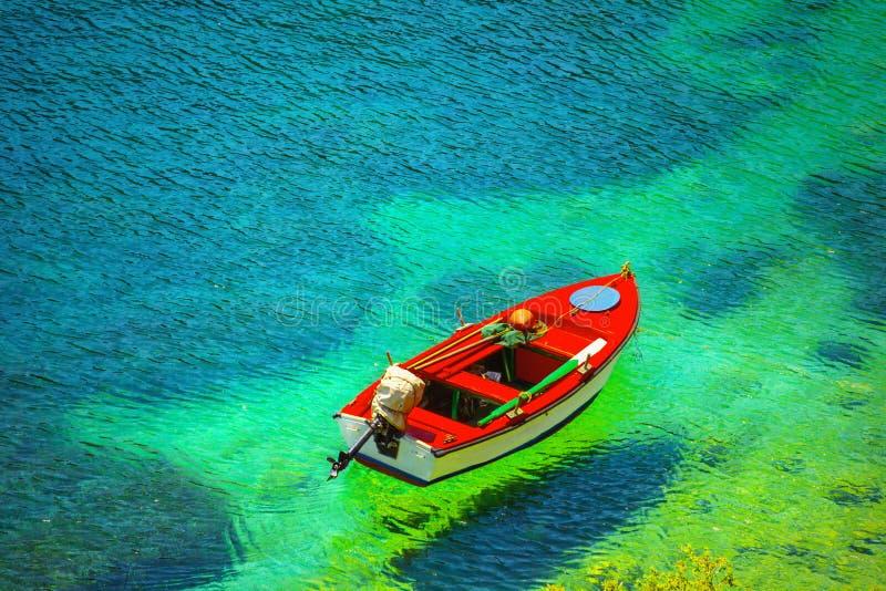 Fishing boat. In Kefalonia island, Greece royalty free stock photo
