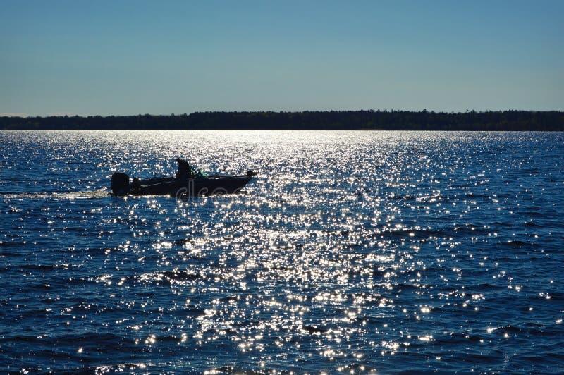 Fishing Boat Lake Michigan stock photography