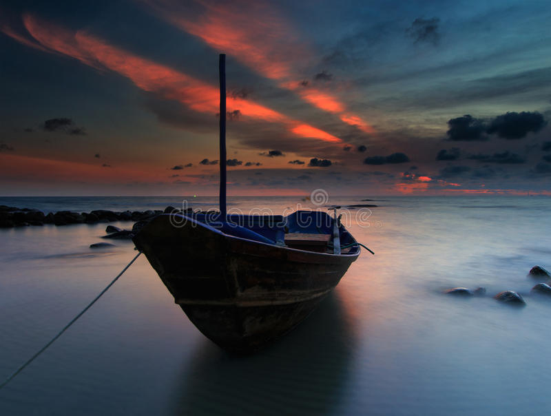 Download The fishing boat stock image. Image of fisherman, cloud - 39509637