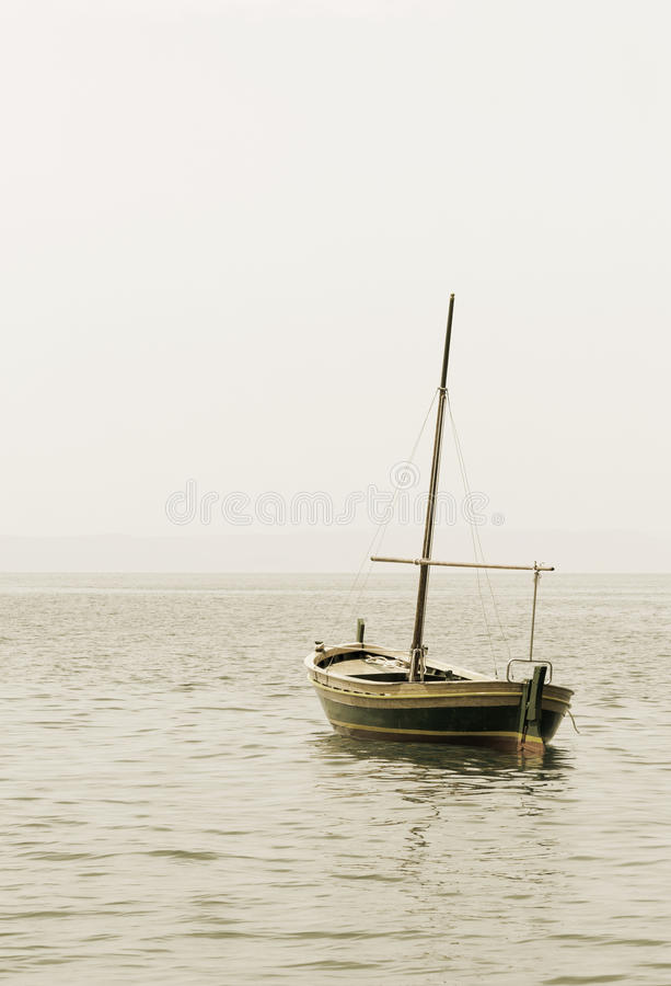 Download Fishing Boat With A Mast In Sea Stock Photo - Image: 26303428