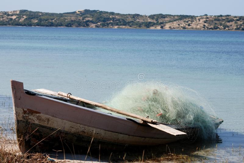 Fishing Boat In Mozambique Royalty Free Stock Photography