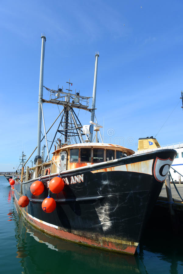 Fishing Boat, Narragansett, RI. Fishing Boat Barbara Ann in Galilee, Narragansett, Rhode Island, USA stock photos
