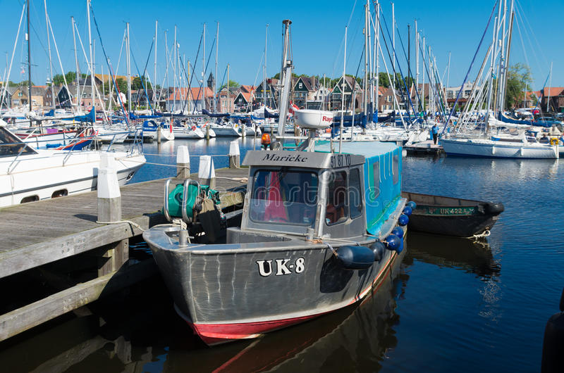 Fishing boat. Old fishing boat with Urker registration number. Urk has by far the largest fishing fleet and fish processing industry in the Netherlands stock photography