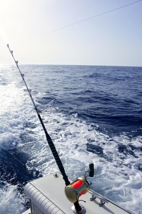 Fishing Boat With Rod And Reels Stock Photo