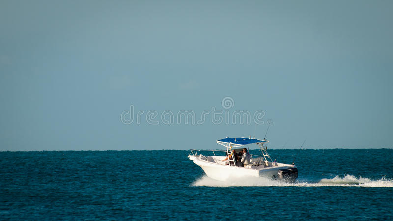 Fishing Boat. At the sea in perfect weather royalty free stock image