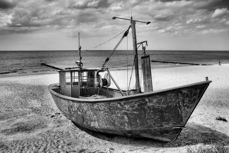 Fishing boat. Small fishing boat in Europe royalty free stock photos
