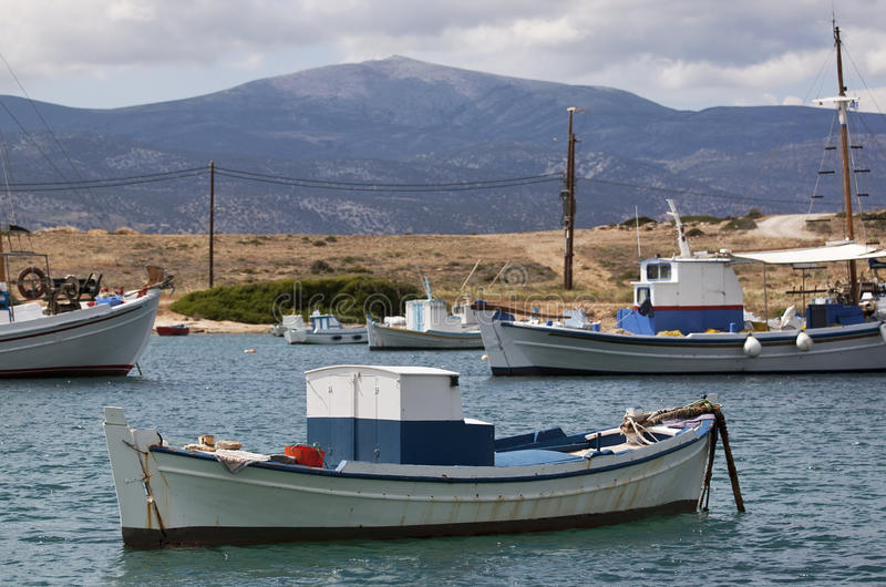 Fishing boat. Small fishing boat on the port stock image