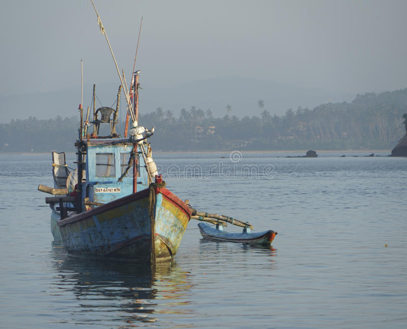 Fishing Boat in Sri Lanka royalty free stock photo