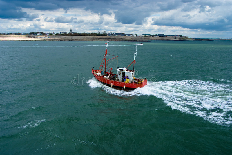 Download Fishing Boat On Stormy Weather Stock Photos - Image: 7144963