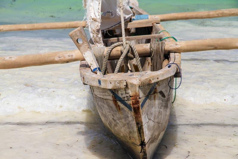 Fishing boat in Zanzibar royalty free stock photos