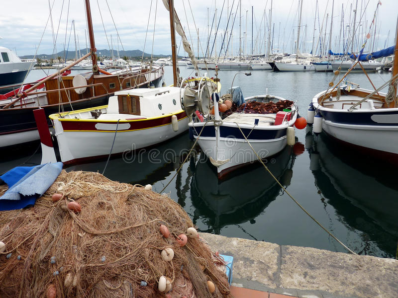 Download Fishing boats stock image. Image of blue, provence, sunny - 14774015